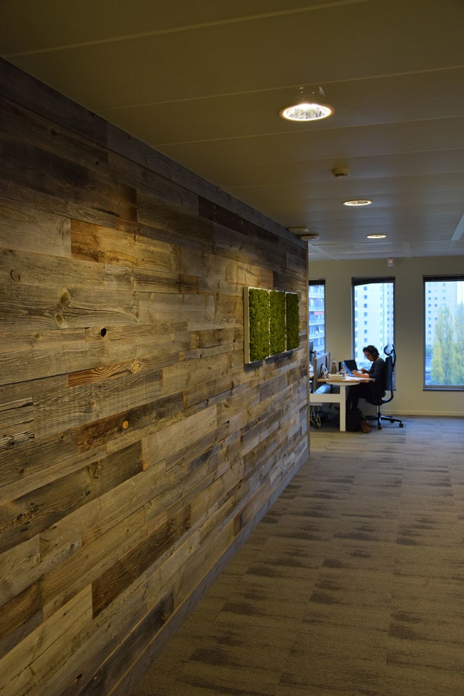 Reclaimed wood blocks for Internal cladding and feature walls Barnwood in a Box (each)