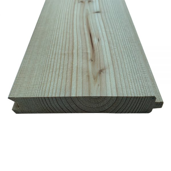 Siberian Larch, Heartwood Natural, Tongue & Groove V Joint (PTGV) for Cladding or Fencing (pack)