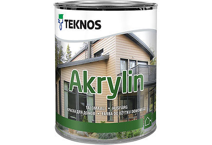 White Exterior Cladding Top Coat Paint Akrylin T7001 for External Joinery 2.7ltr