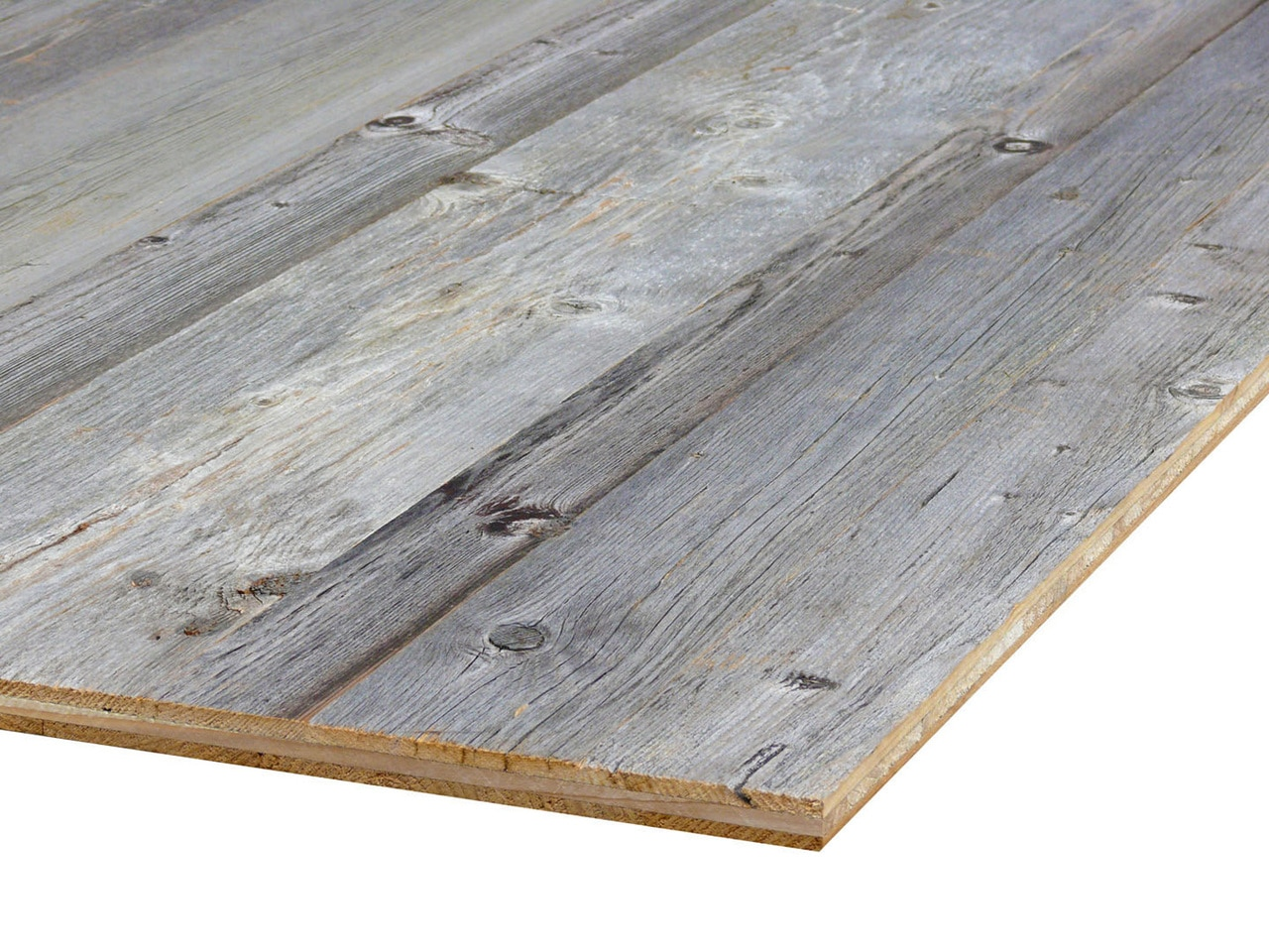 Reclaimed wood Rustic faced  Panels Innsbruck 8'x 4` 2440 x 1220  x 20mm for Furniture & Cladding per Pack