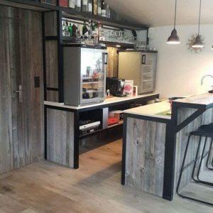 Innsbruk Grey Panels Timber Focus Kitchen Barnwood
