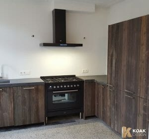 Rustic old look kitchen doors and panels brown