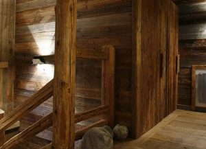 Reclaimed tongue and groove internal timber cladding