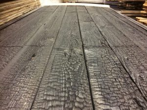 Charred-Burnt-Scorched-Cladding TF11 Heavy Charred Burnt Timber Cladding