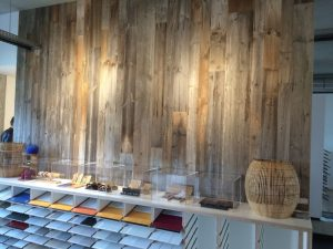 Showroom - Reclaimed Old Look internal timber cladding shop fitting