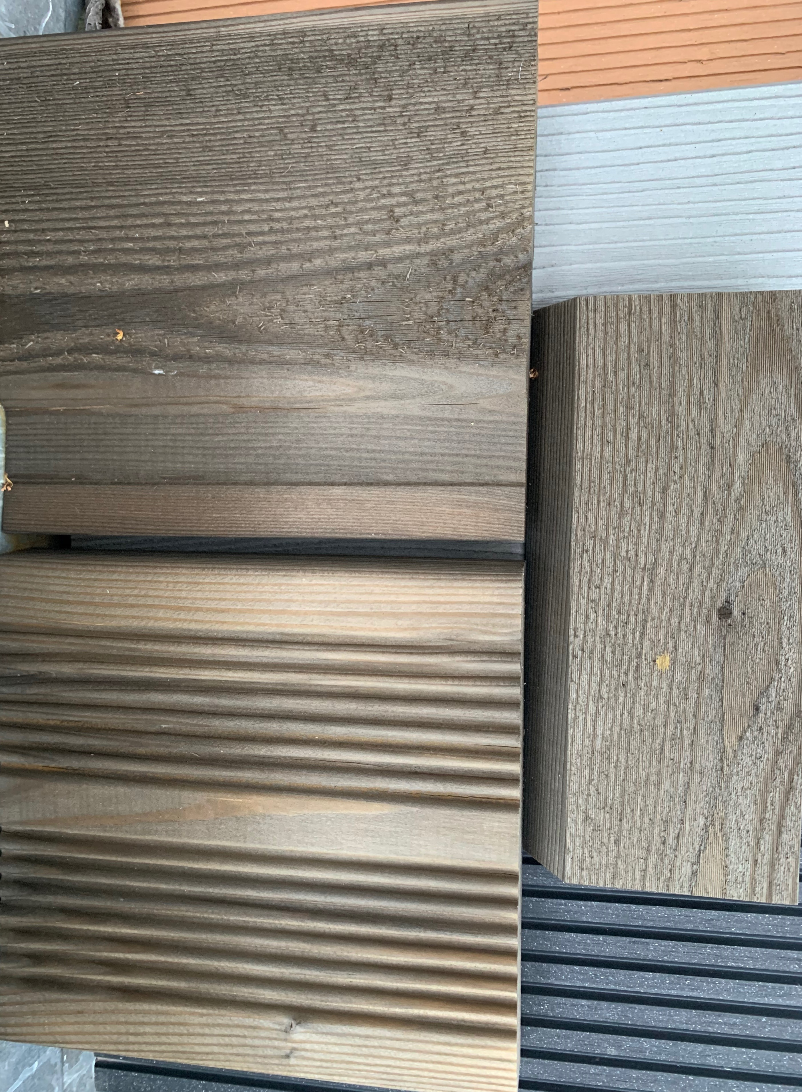 Siberian Larch Samples Treated SertiWOOD Aged Look After 15 Days Exposure