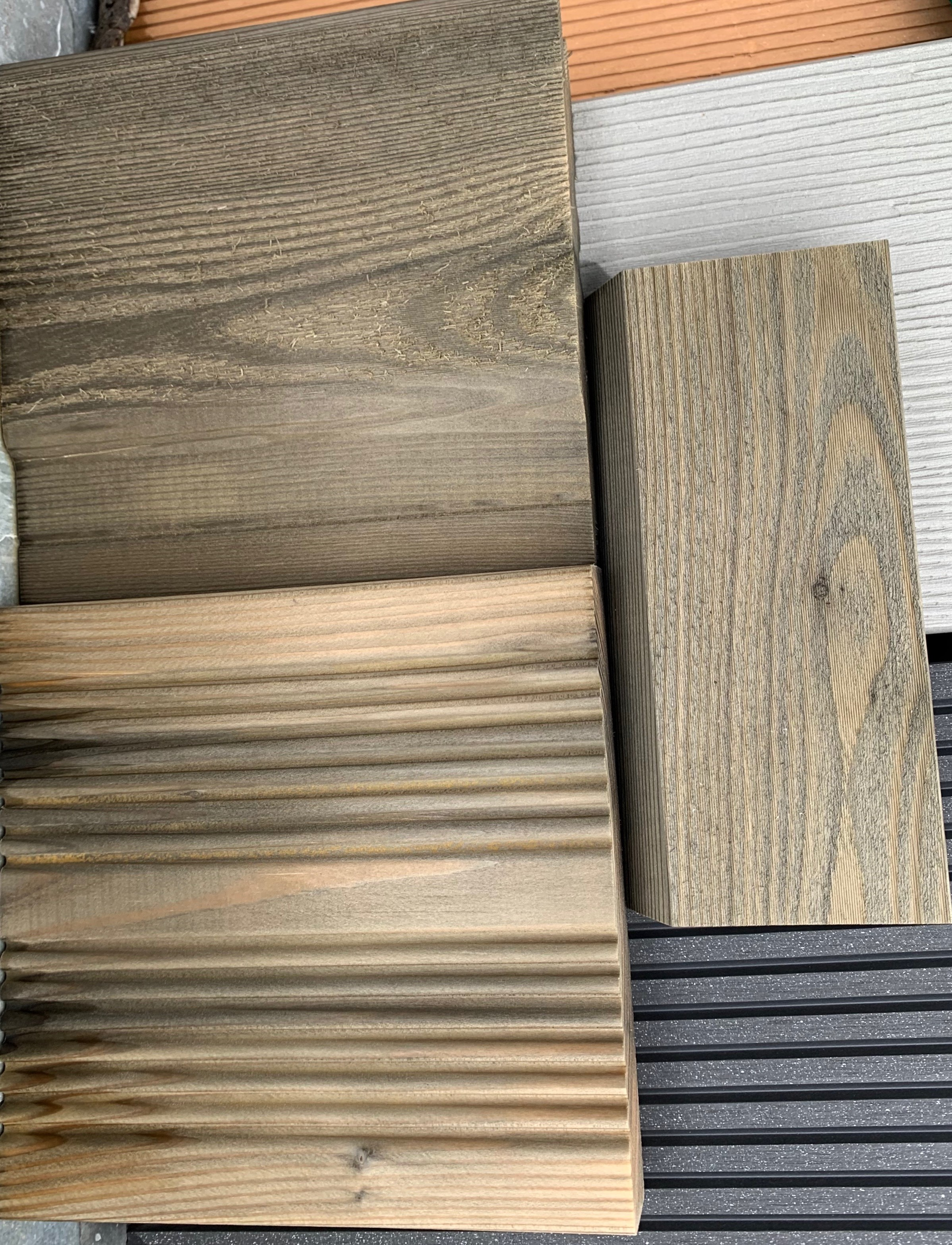 Siberian Larch Samples Treated SertiWOOD Aged Look After 7 Days Exposure