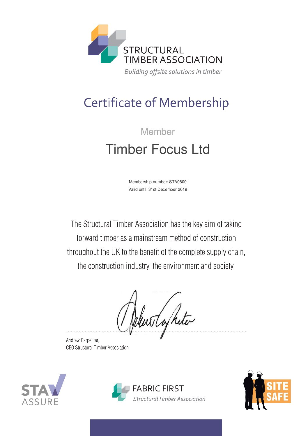 Timber Focus Structural Timber Association Timber