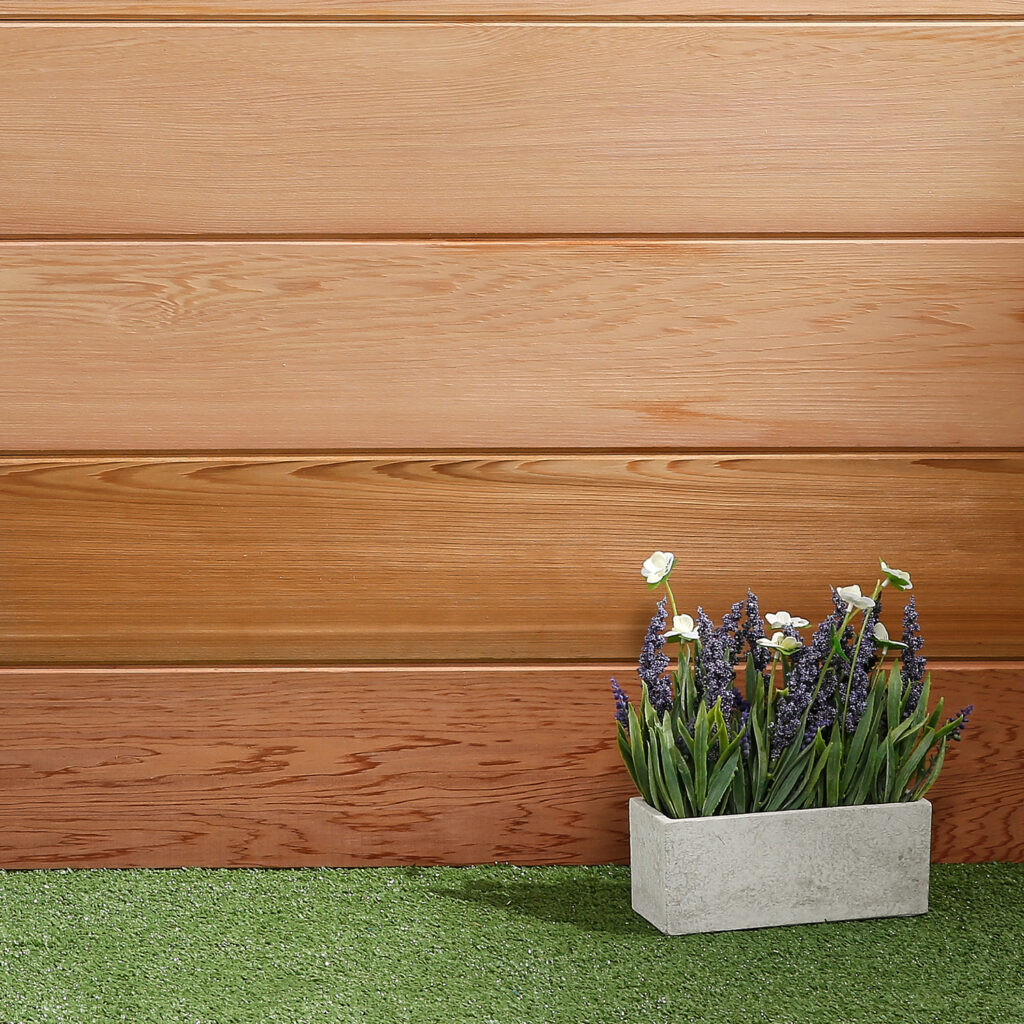 PTGV Western Red Cedar boarding for cladding and landscaping