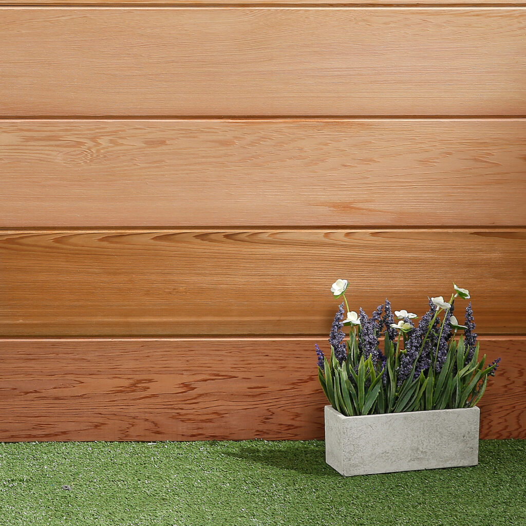 Horizontal tongue and groove V Jointed Western Red Cedar