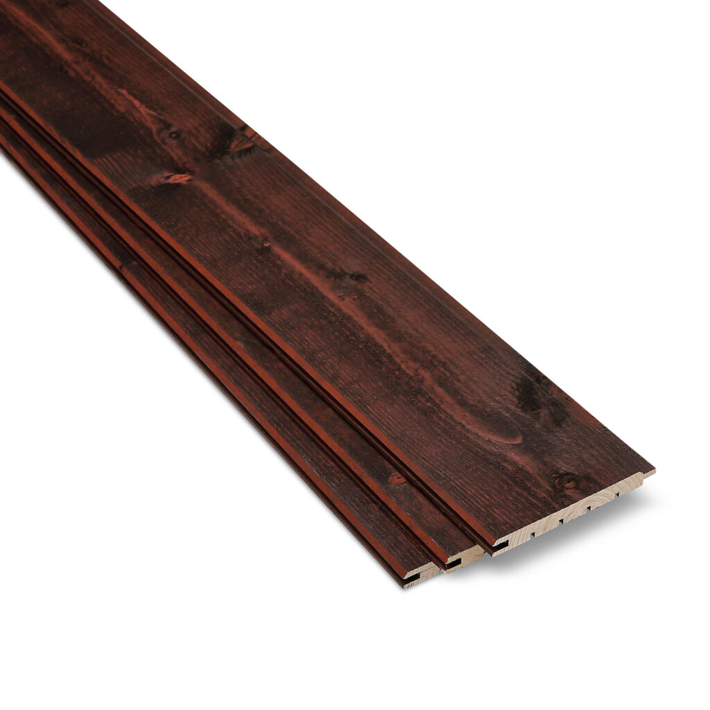 Rustic Cherry SertiWOOD Cladding 3 Internal Cladding Boards Tongue and Groove
