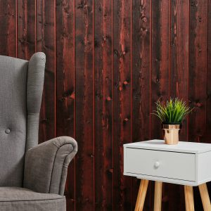 Internal Timber Cladding SertiWOOD® Rustic Cherry Vertical Retro- Shabby Chic - vintage
