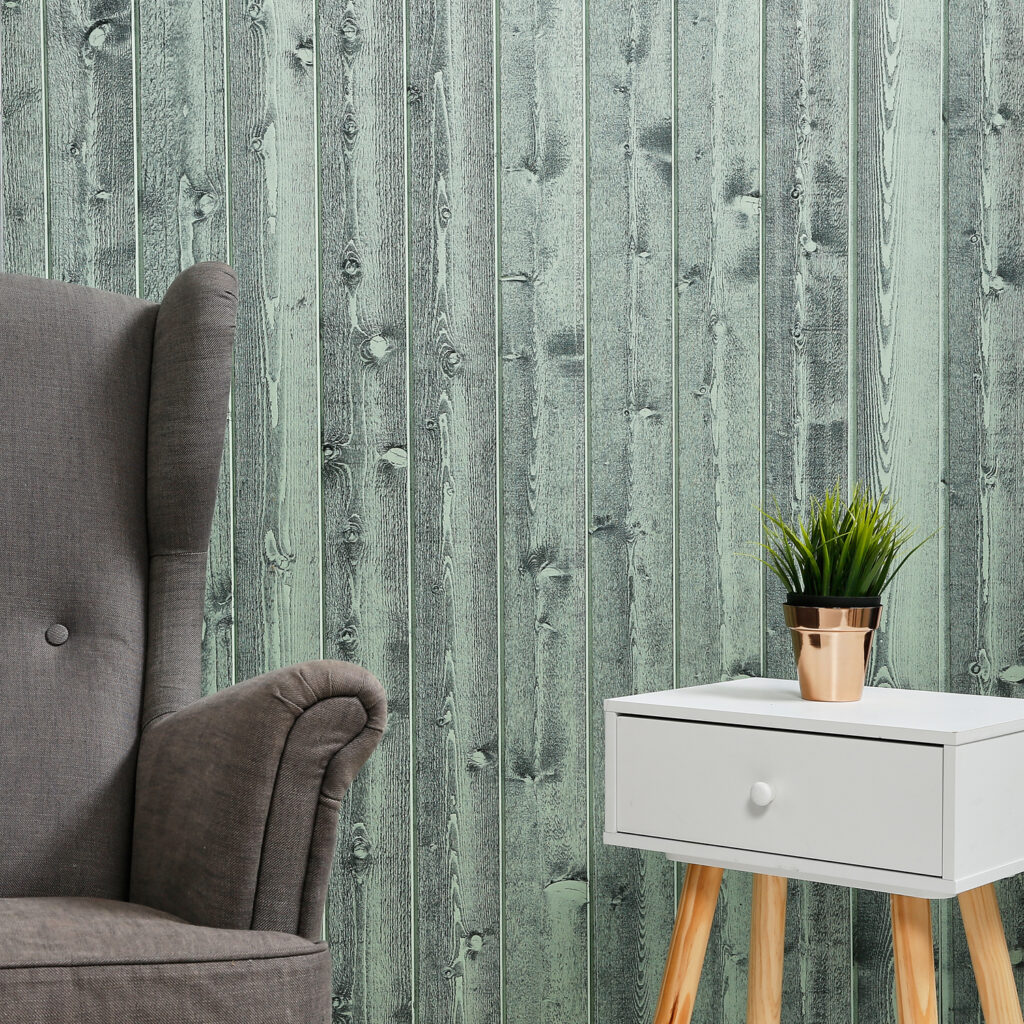Timber Focus Internal Wall vertical Cladding SertiWOOD® Rustic Mint