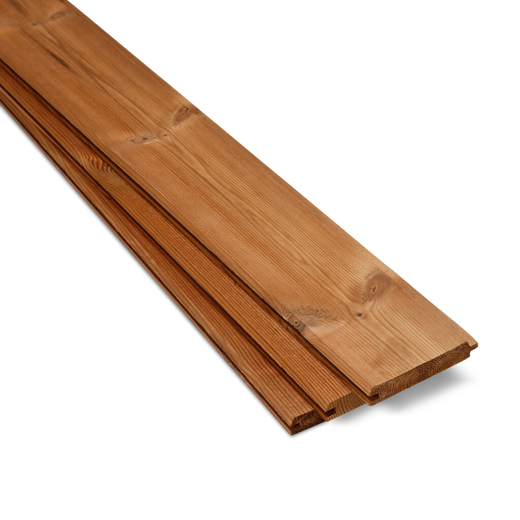 Timber Focus SertiWOOD Thermowood Redwood D Tongue and Groove V Jointed 3 Boards