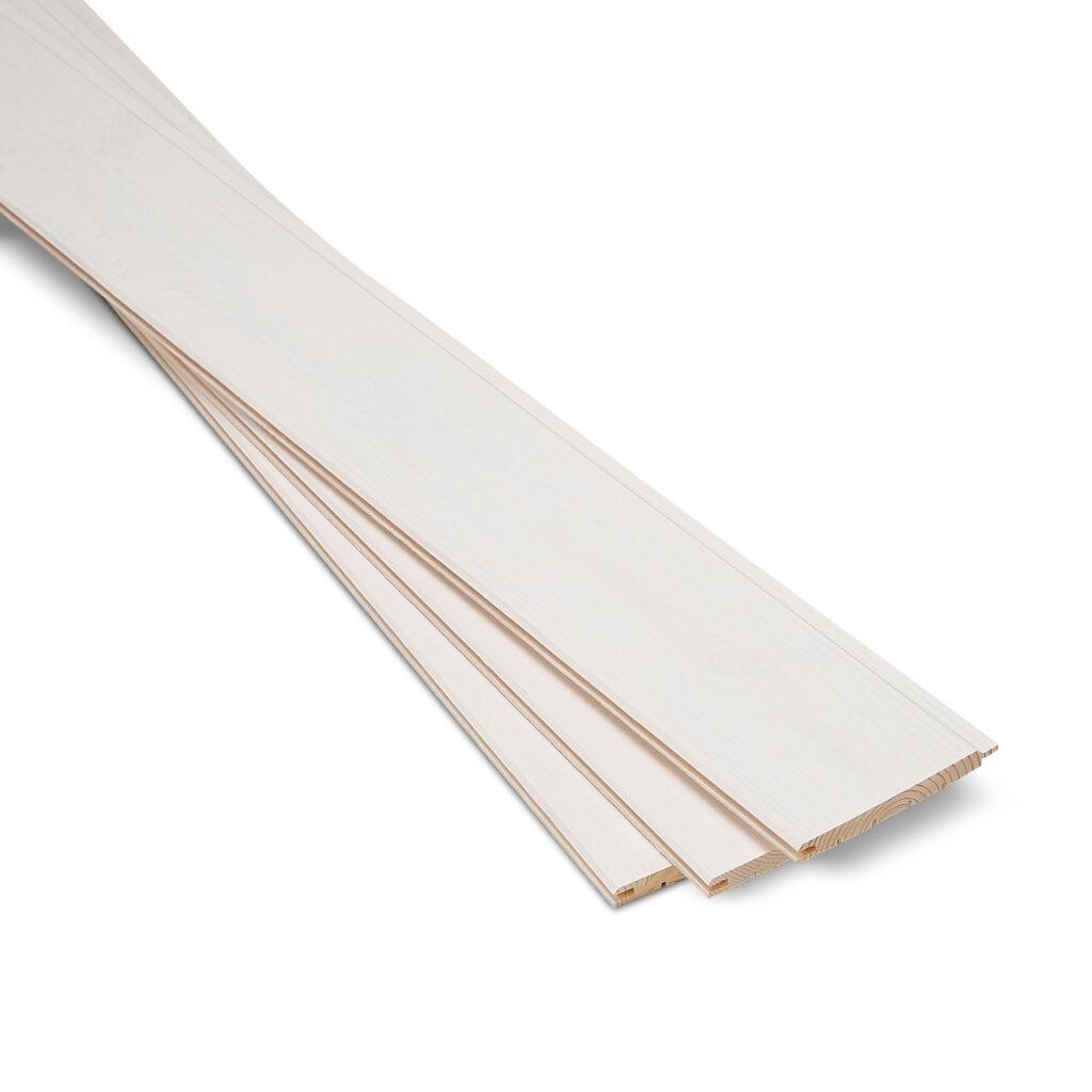 Premium Timber Cladding SertiWOOD® White Wax - White Wash Three cladding boards