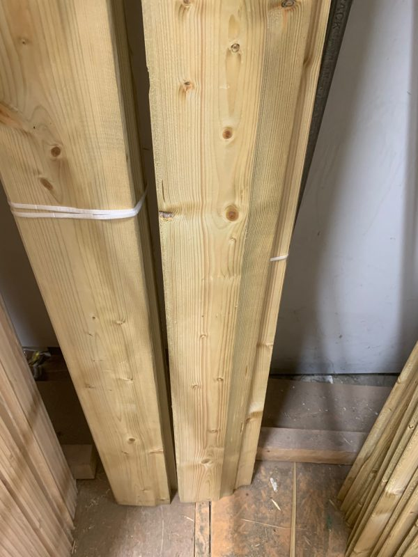 Green Treated Shiplap Vertical cladding 2.4mtr