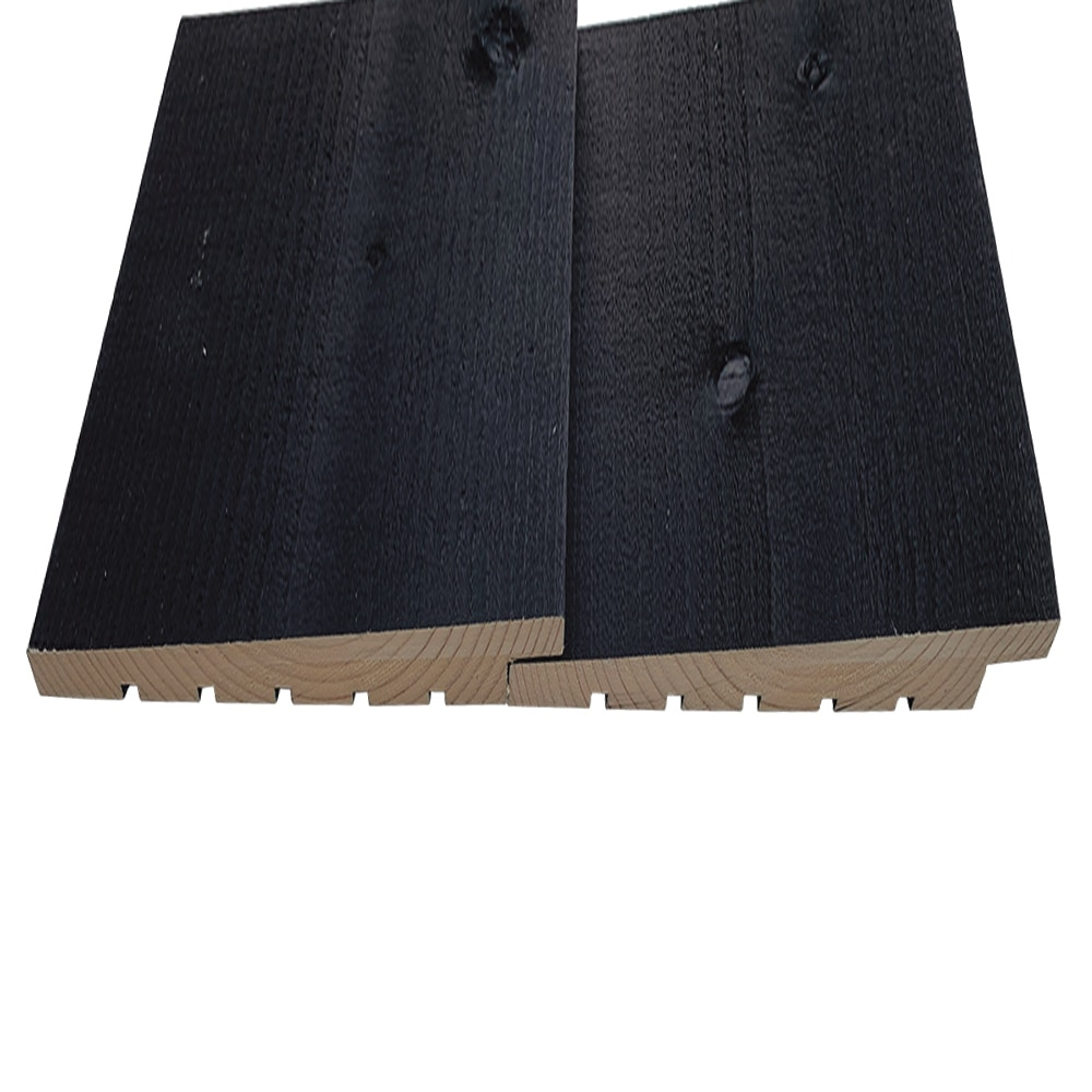 Premium Black  Stained Exterior Black Featheredge Timber  Cladding, Dutch Profile cladding (pack)