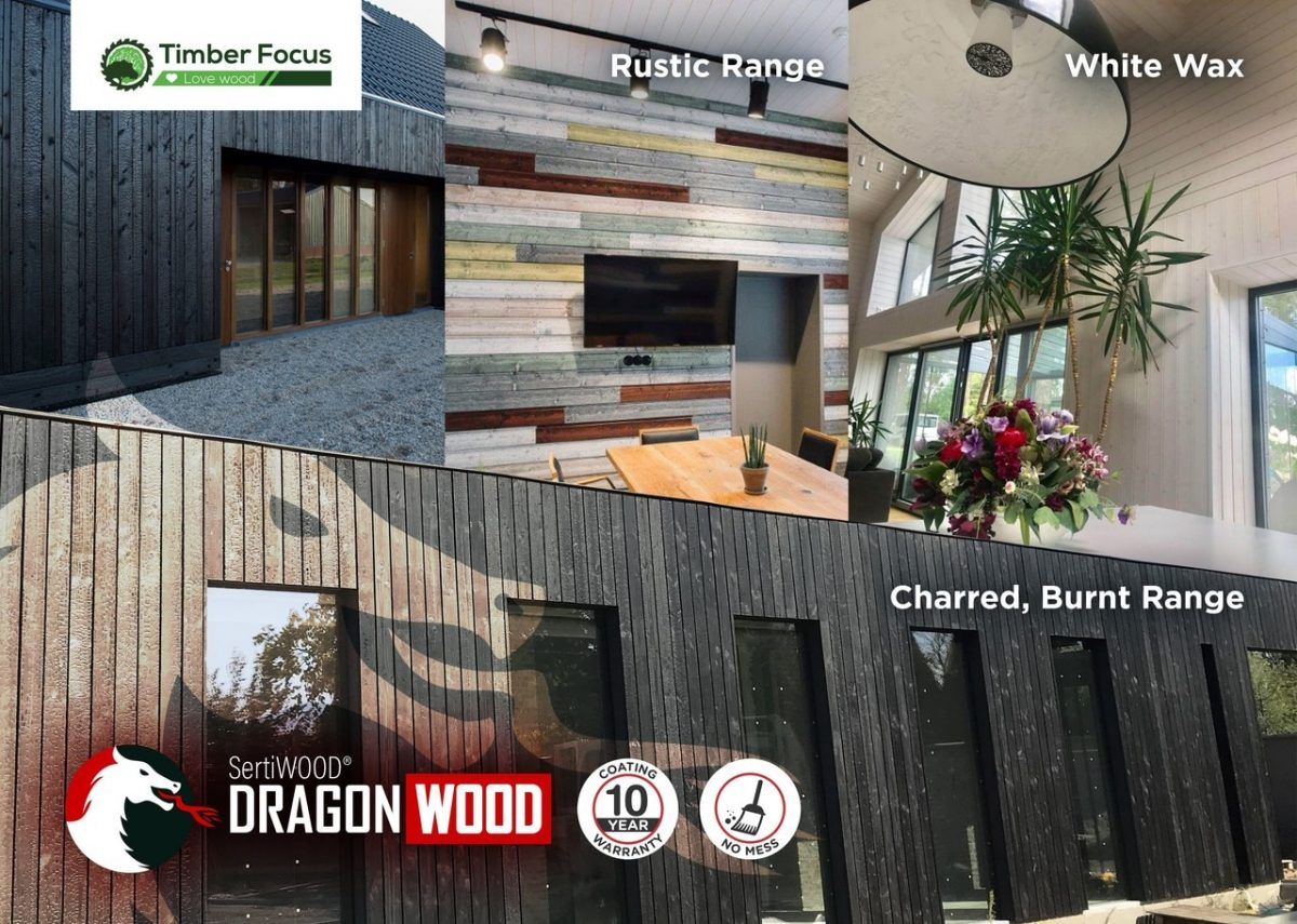 Premium Vertical Timber Cladding SertiWOOD® DragonWOOD Charred Effect