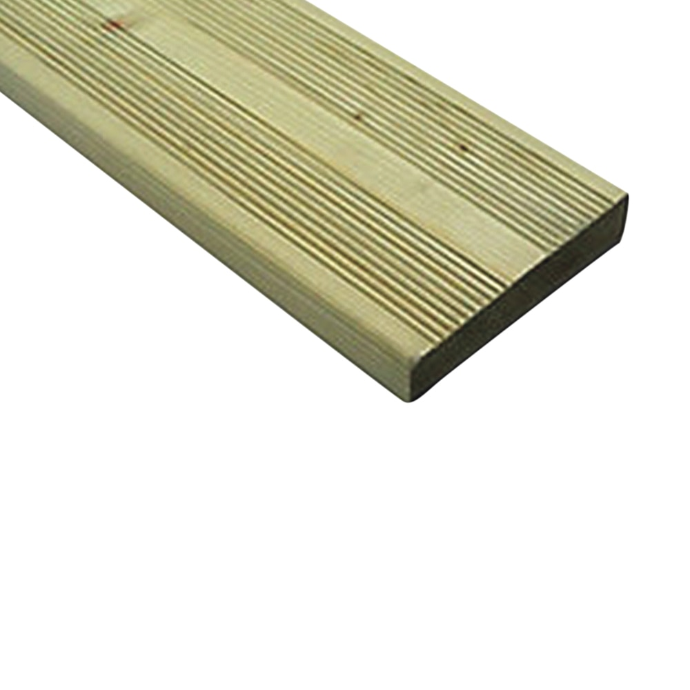 Green Treated Softwood Decking Ribbed/Castellated & Reeded Profile (Pack)