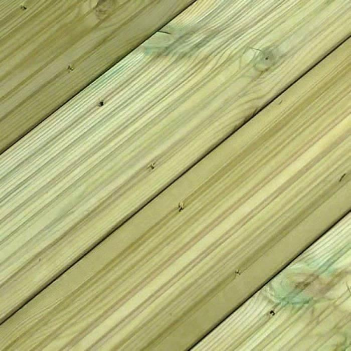 SertiWOOD®  Green Treated Softwood Decking Ribbed/Castellated & Reeded Profile (Pack) SertiWOOD®