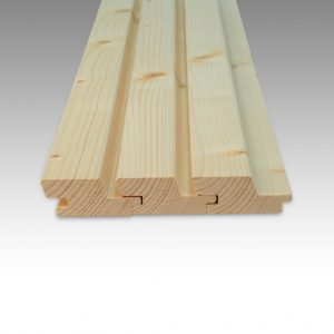 Siberian Larch Heartwood Natural, Rhombus, Hidden Fixings Profile UTK (pack)