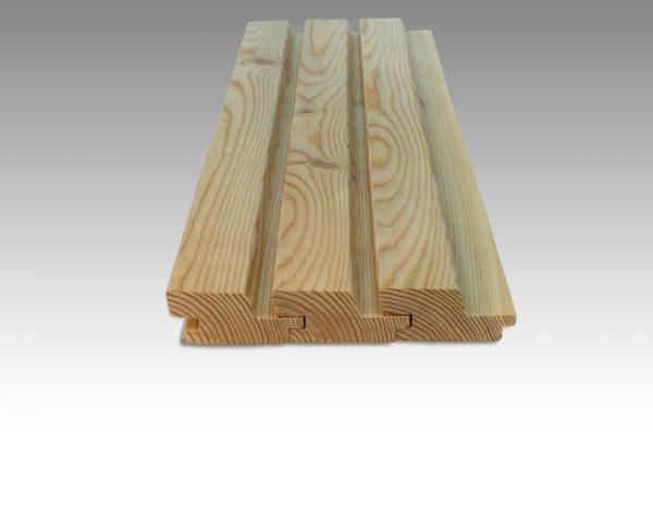 Siberian Larch Heartwood Natural, Rhombus, Hidden Fixings Profile UTK (pack)