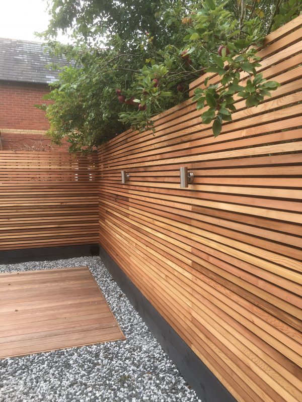 Cedar Slats Screen Fencing