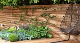 Western Red Cedar Screen Slatted batten Contemporary fence