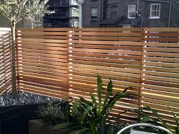 Western Red Cedar Fence Screen Slatted Contemporary
