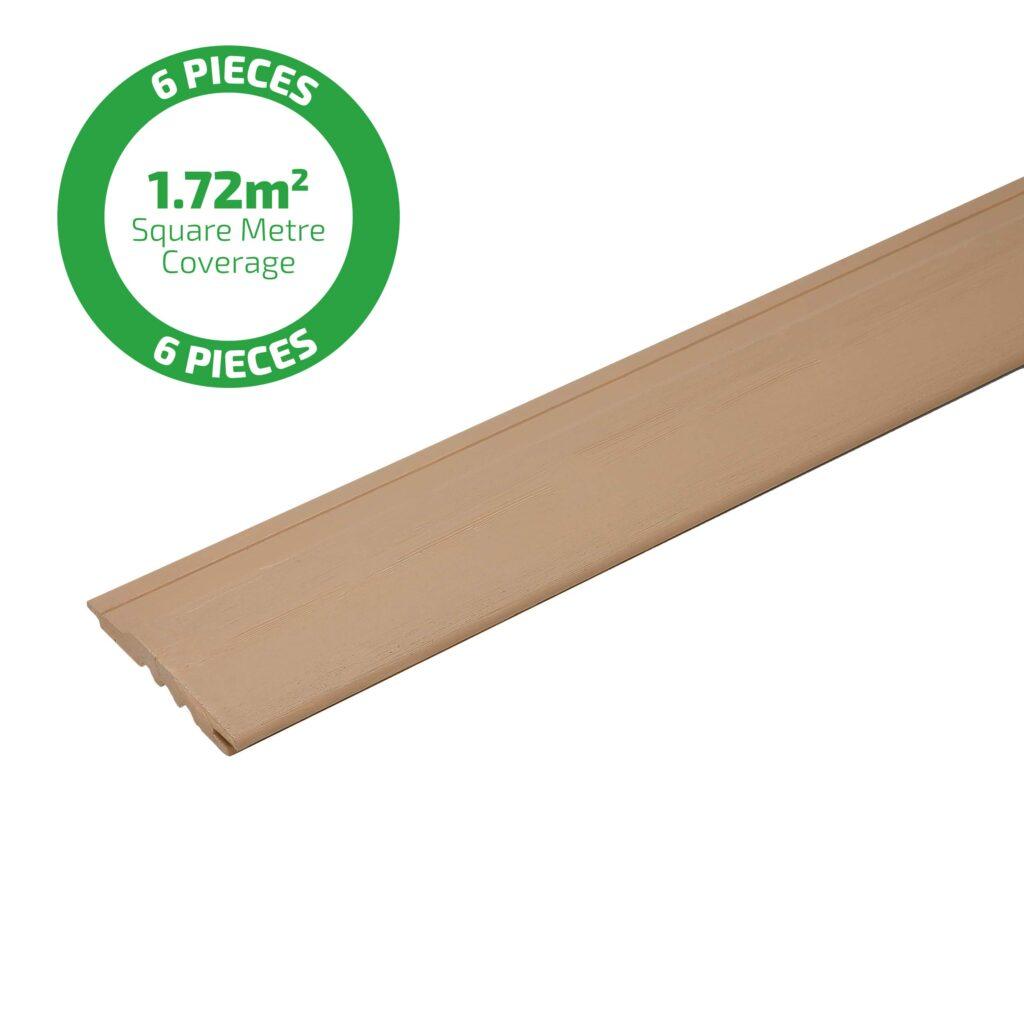 Timber Focus SertiWOOD Viking Grey Beige Brushed textured surface wood cladding plank