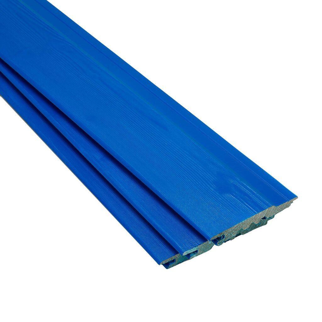 Premium Timber Cladding SertiWOOD® Viking Signal Blue Secret Fix 3 boards