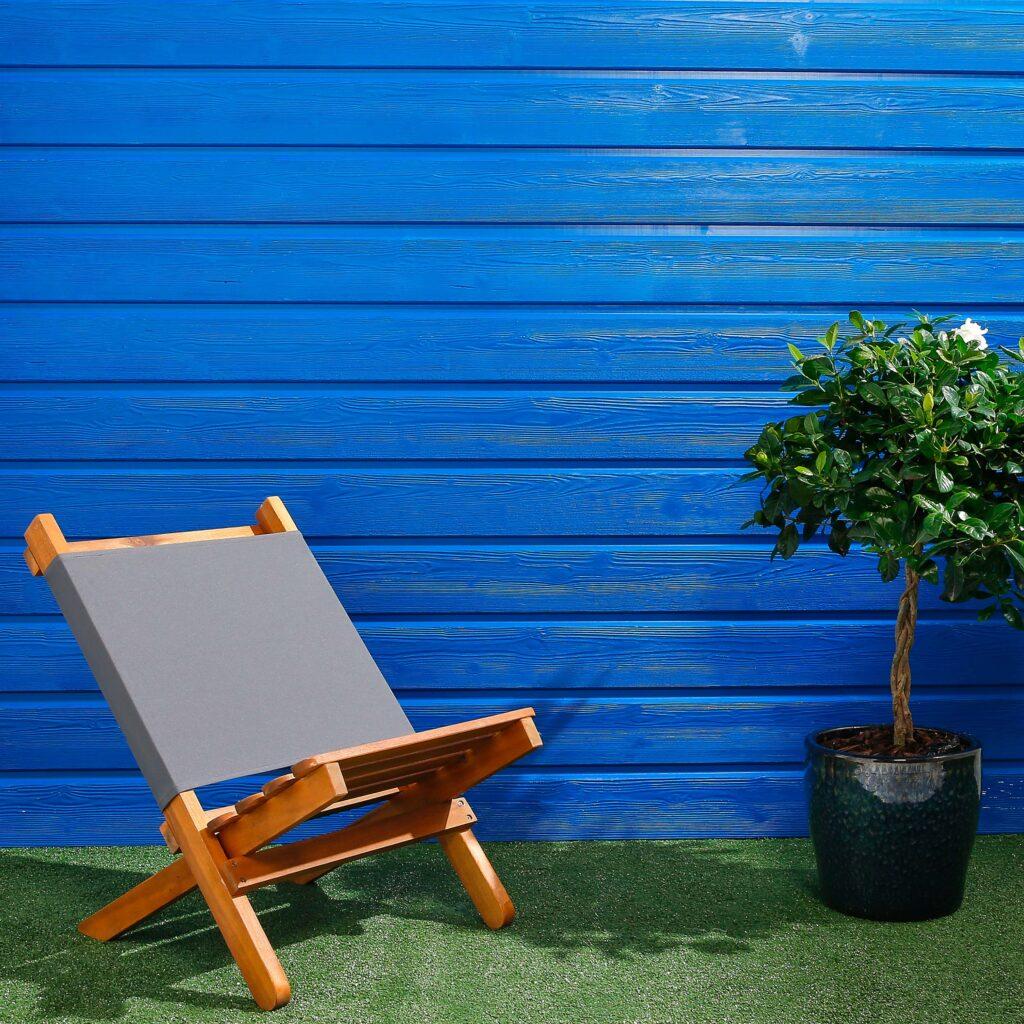 Premium Timber Cladding SertiWOOD® Viking Signal Blue Secret Fix Horizontal cladding