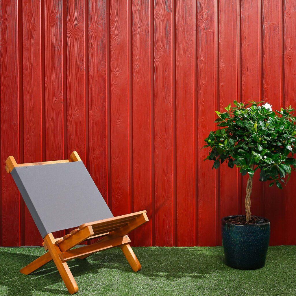 Premium Timber Cladding SertiWOOD® Viking Swedish Red Secret Fix Vertical Cladding
