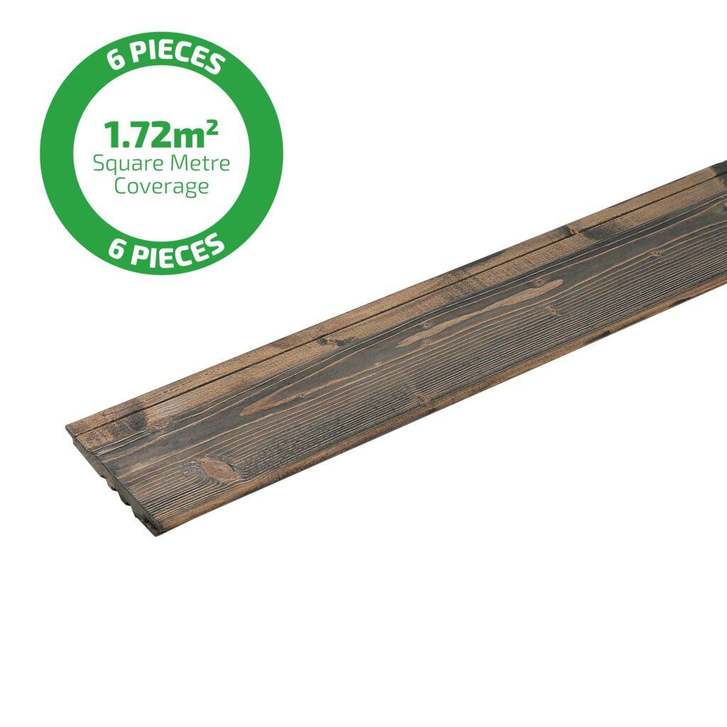 Premium Timber Cladding SertiWOOD® Viking Anthracite Grey Secret Fix Translucent 1 plank