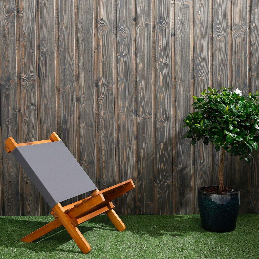 Premium Timber Cladding SertiWOOD® Viking Anthracite Grey Secret Fix Vertical Translucent