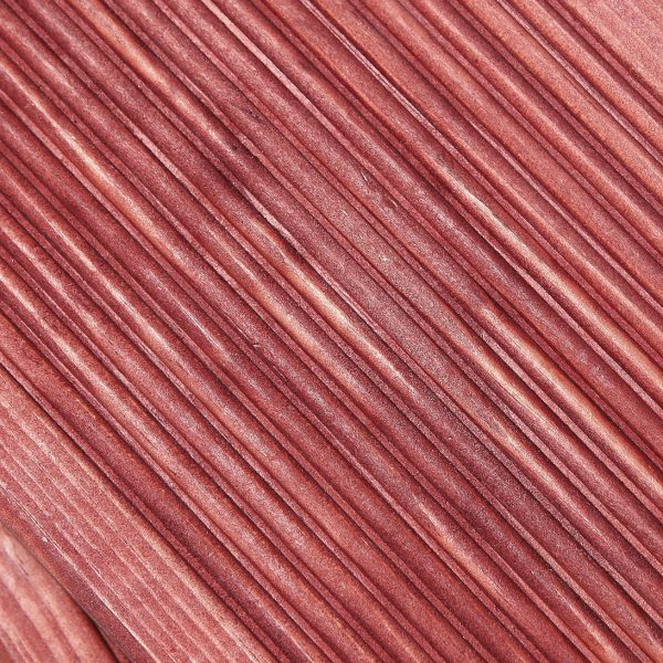 Red - Chilli Rosewood Colour Stained timber decking, reeded profile (Pack)