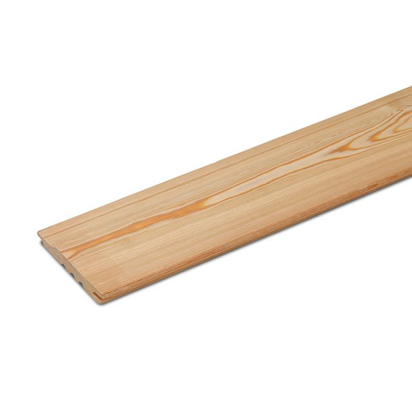 Siberian Larch Heartwood Natural Exterior Timber Cladding, Tongue & Groove Shiplap (pack)