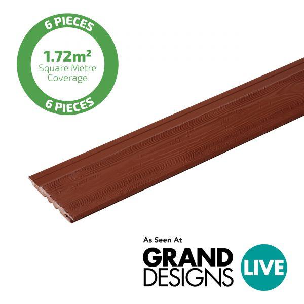 Swedish Red Cladding plank Viking secret fix tongue and groove profile