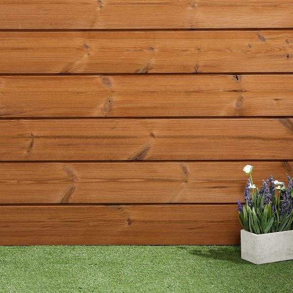 Thermowood Timber Cladding (126pack) 40m2 SertiWOOD Redwood D Smooth S/F Excl 6th FSC Horizontal