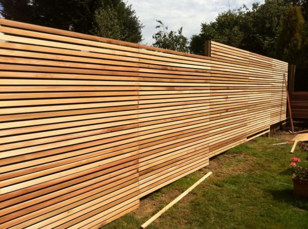 Canadian Western Red Cedar Batten Screen (18x38mmx1.83mtr = 441 pieces in Pack) 34.6m2 Contemporary Fencing ( for 11 Standard 6' x 6' fence panels)